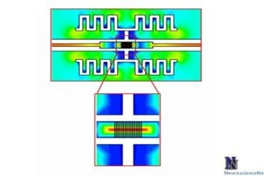An image of an electric field distribution is shown.