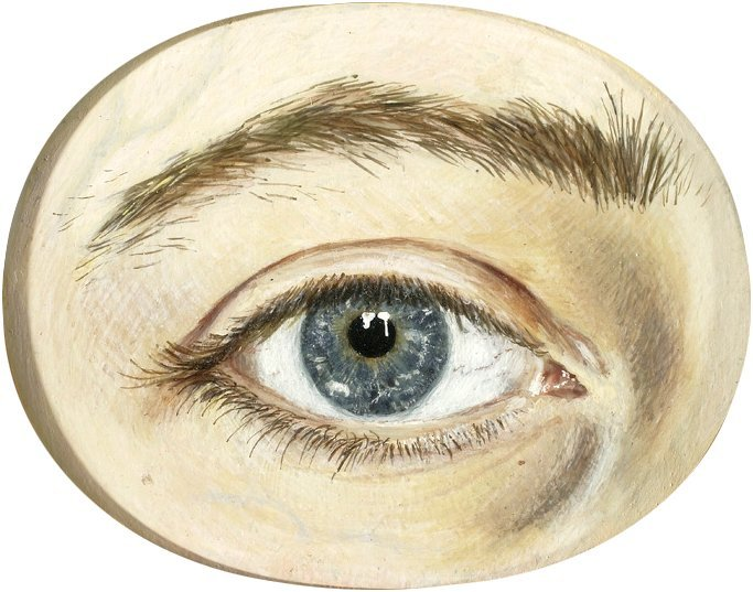 This is a drawing of a person's right eye.