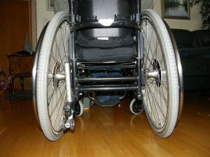 The image shows the a wheelchair.