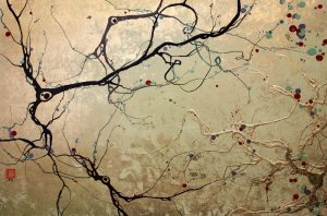 This is a painting of neuronal development.