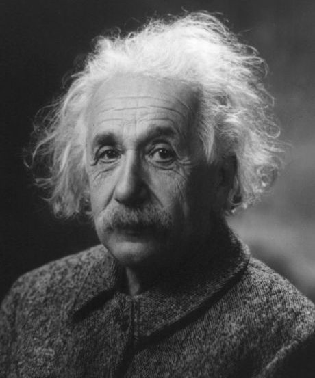 This is a portrait of Albert Einstein.