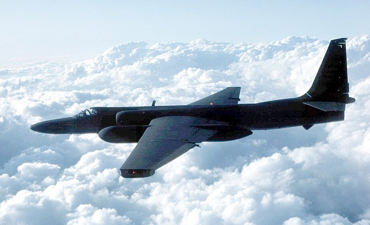 This image shows a U-2 high altitude airplane.