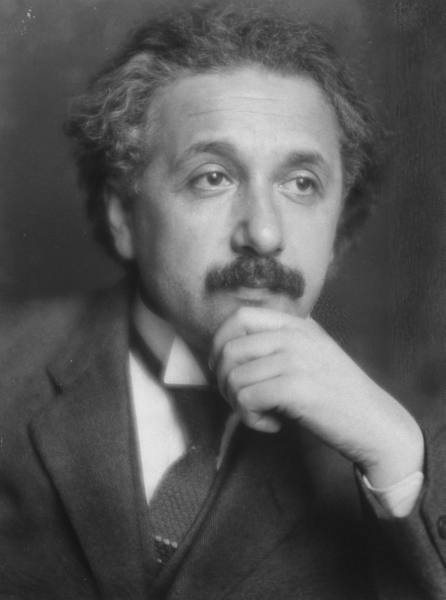 This is a 1921 portrait of Einstein.