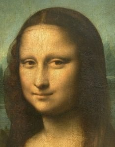 This is a picture of Mona Lisa and her enigmatic smile.