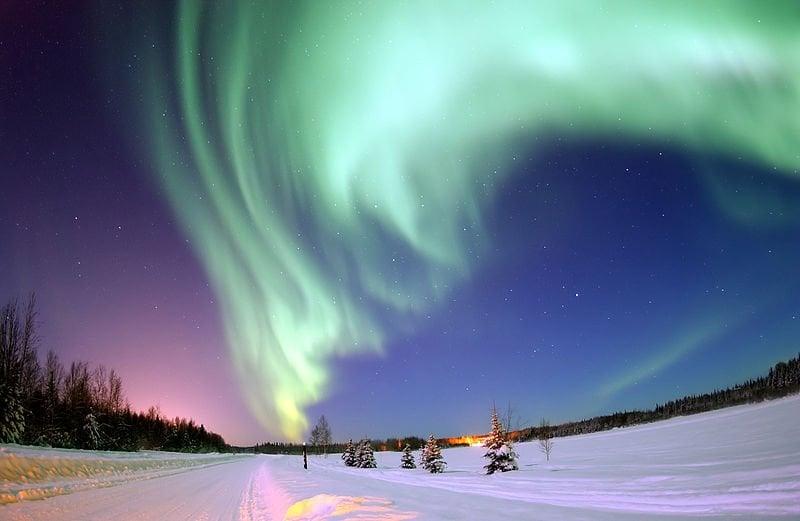 This is the aurora borealis