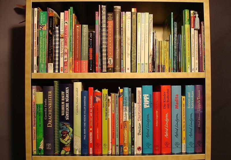 The image shows children's books.