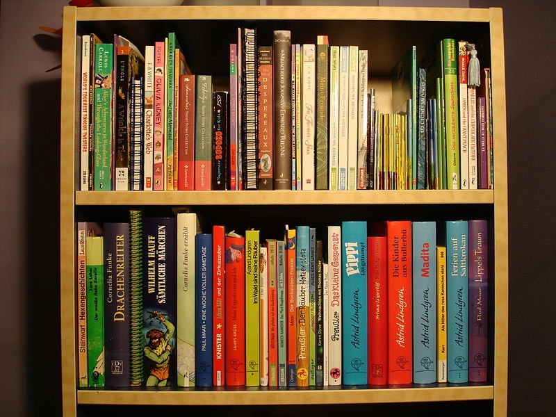 The image shows children's books.