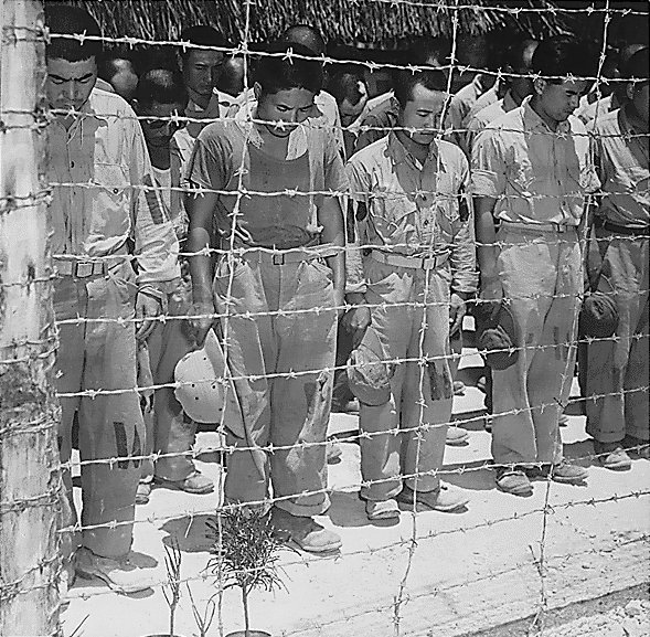 Japanese POW's in Guam, 1945.