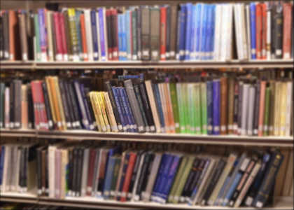 The image shows a row of books.
