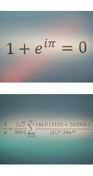 These are the beautiful and ugly formulas.