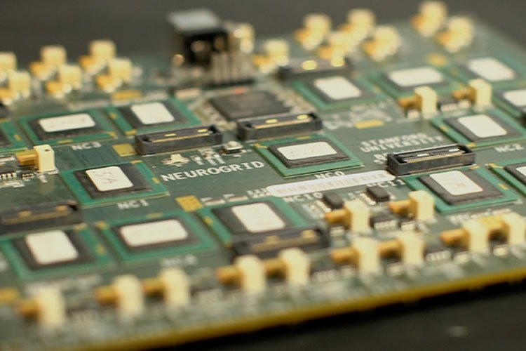 This image shows the Neurogrid circuit board.