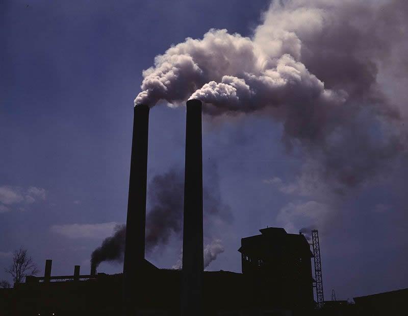 This image shows smoke stacks.