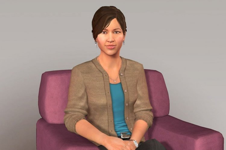 The image shows one of the virtual humans mentioned in the article.