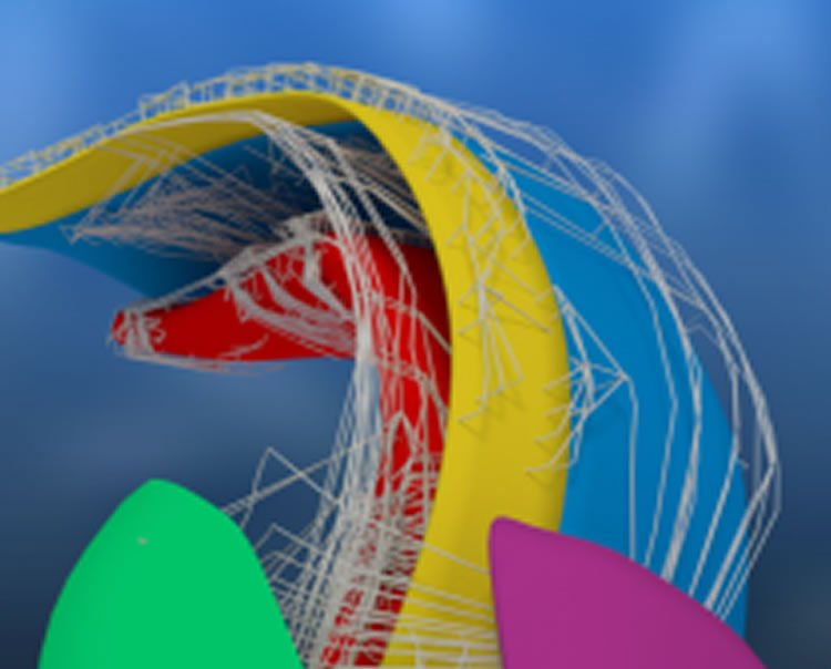 This is a 3d image of a rat hippocampus.