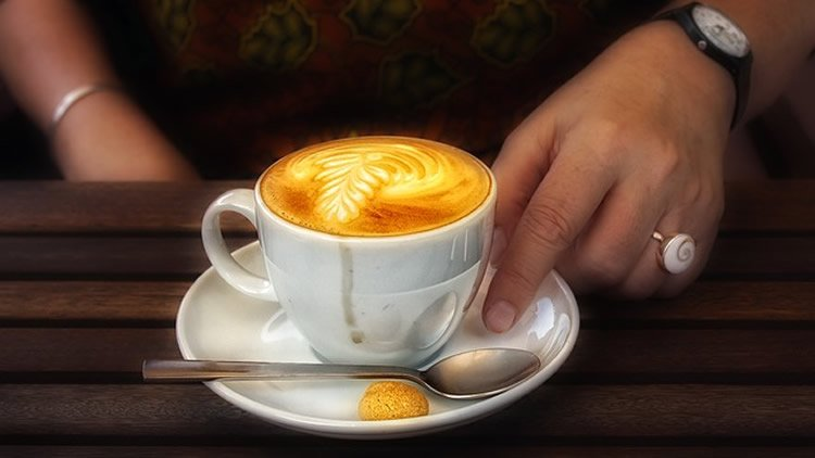 This image shows a cup of coffee.