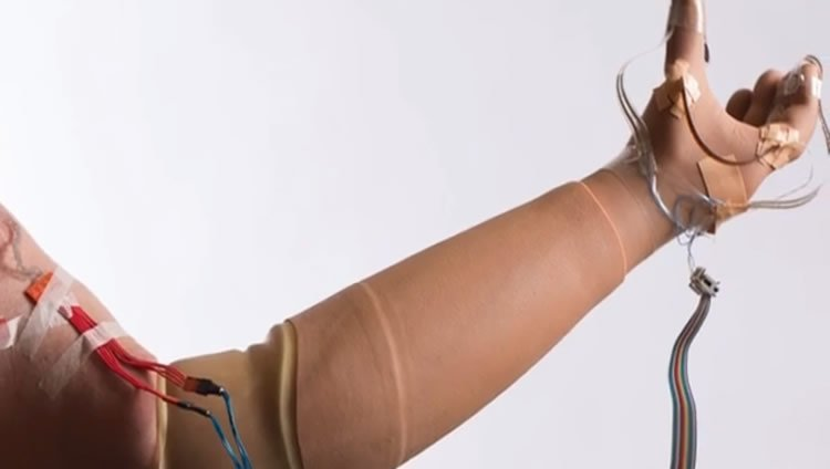 This image shows the arm in action.