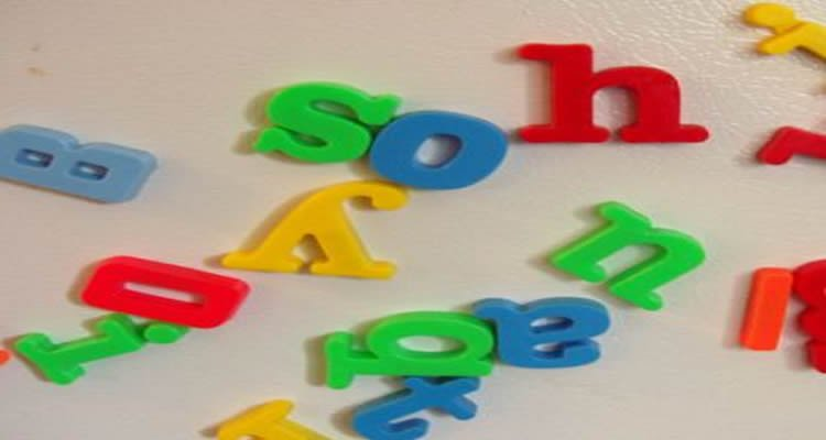 This image shows magnetic colored letters.