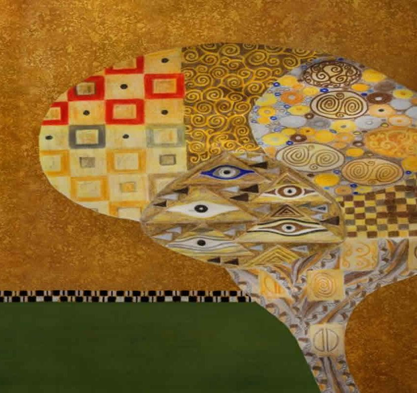 The image is a mosaic representing the mutations across the brain.