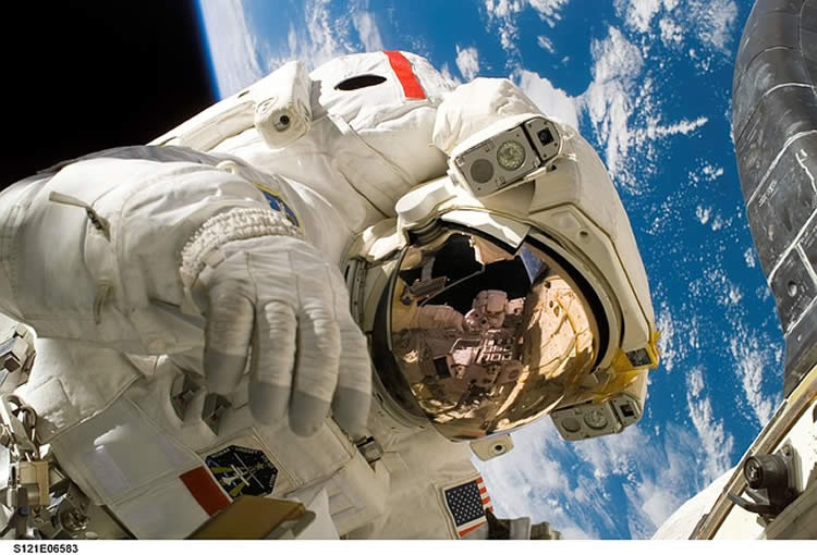 This shows an astronaut.