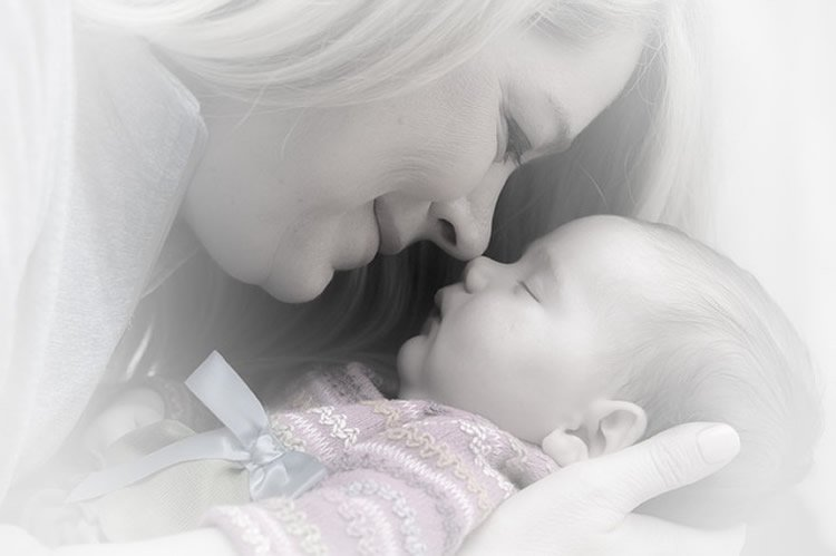 This image shows a mother and baby.