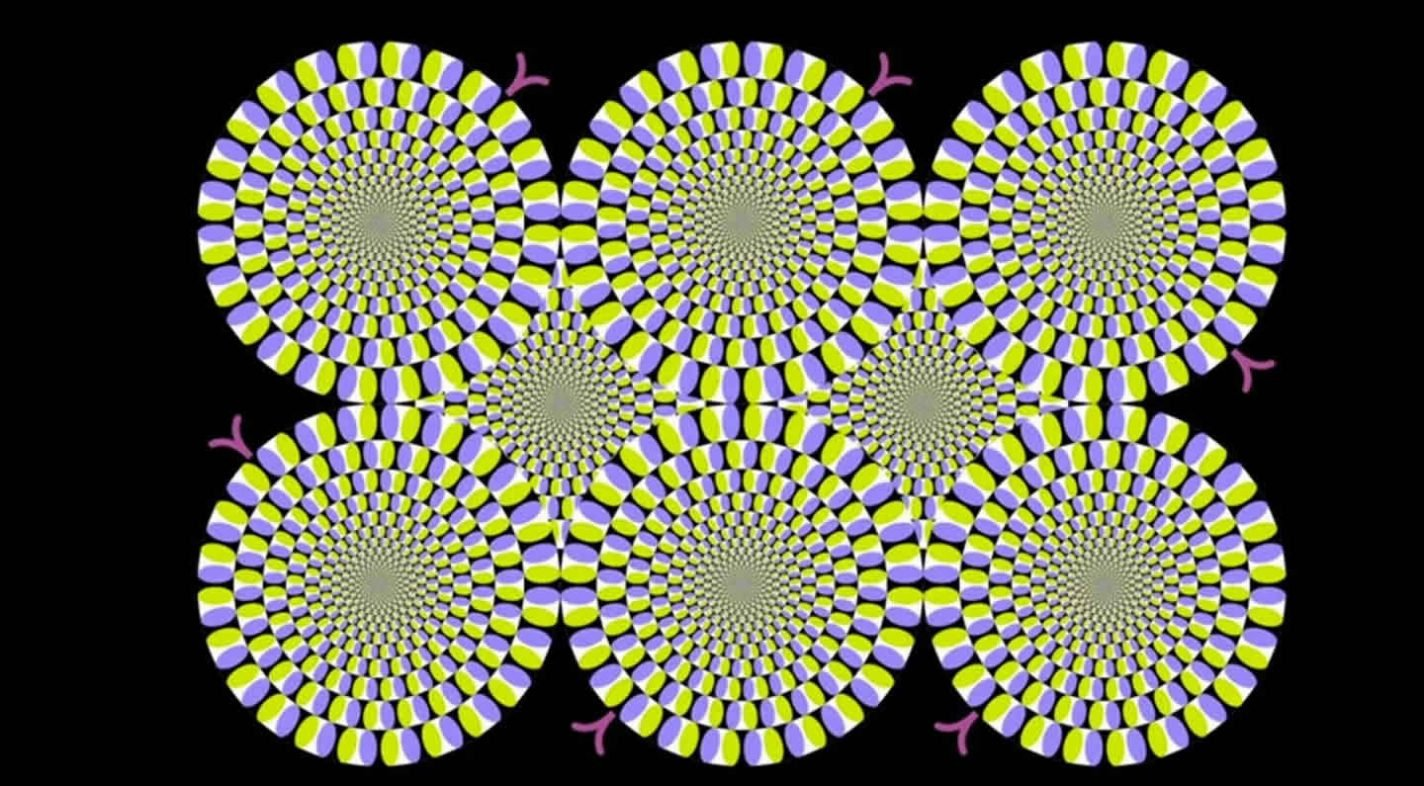 This is the moving snake optical illusion.
