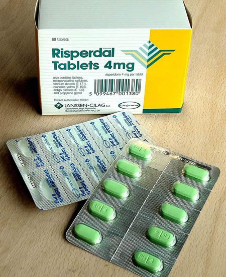 Image shows antipsychotics medications.