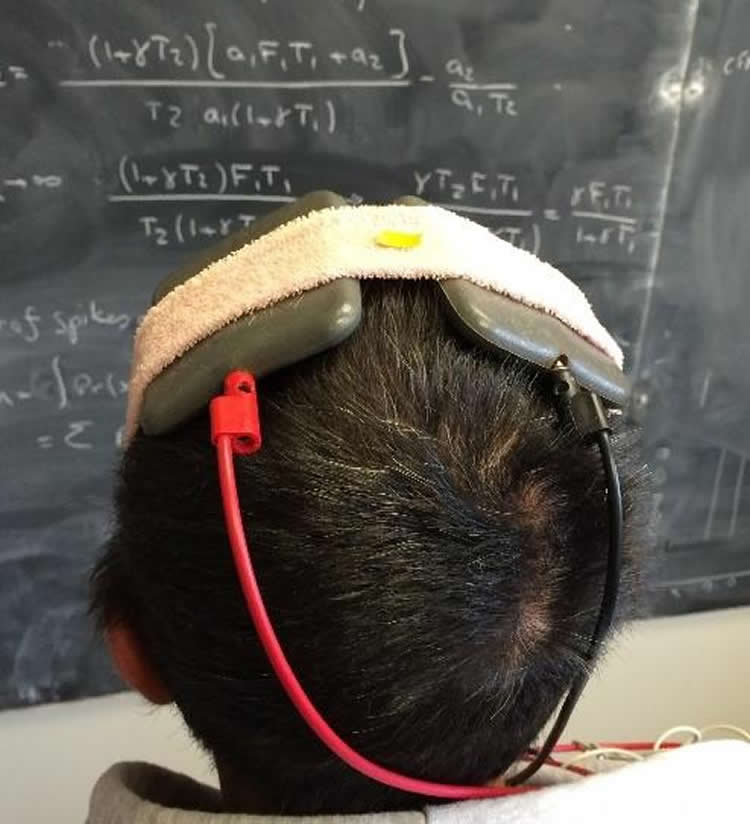 This image shows a person wearing the device.
