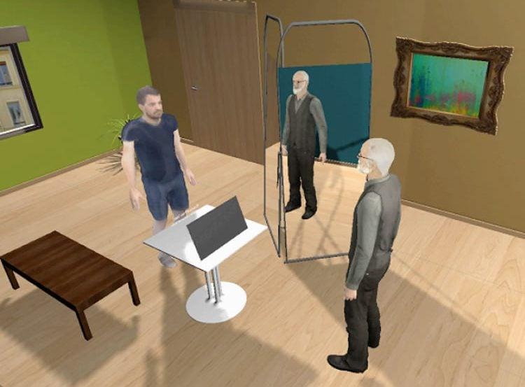 Screen shot showing virtual Freud.