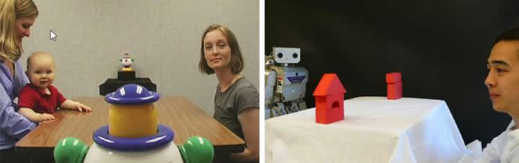 One image shows a baby, the other shows a robot.