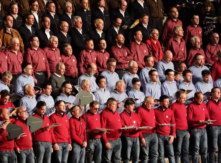 Image shows a male voice choir.