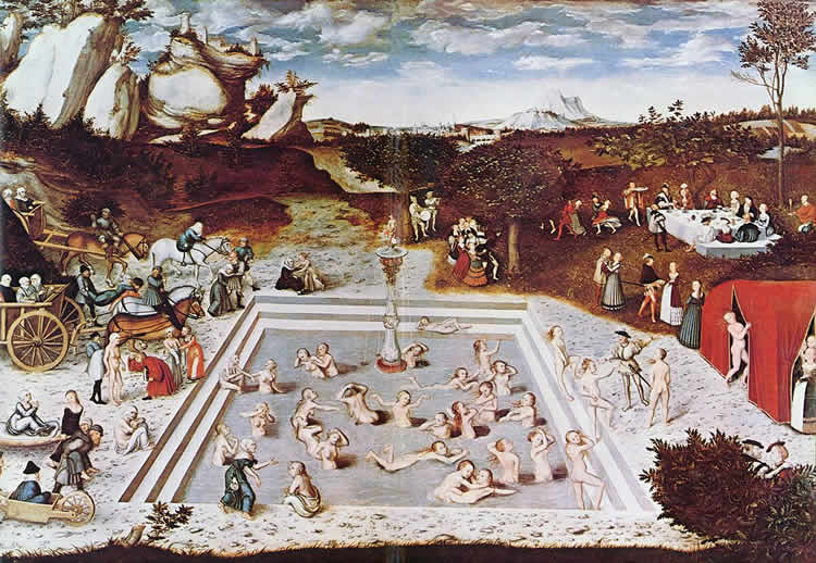 Paining of the fountain of youth.