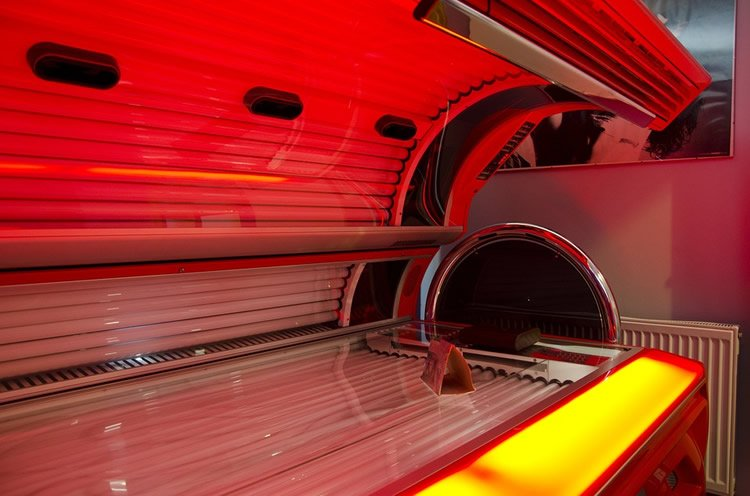 Image shows a tanning bed.