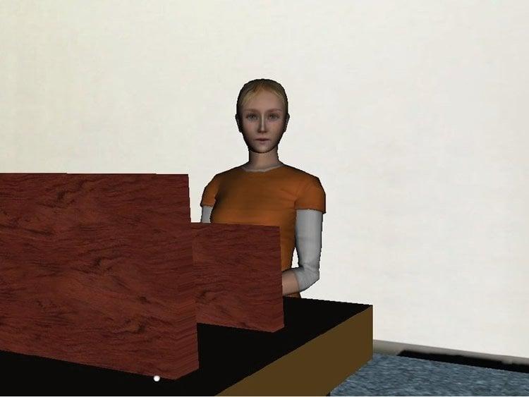 Image of a female virtual reality avatar.