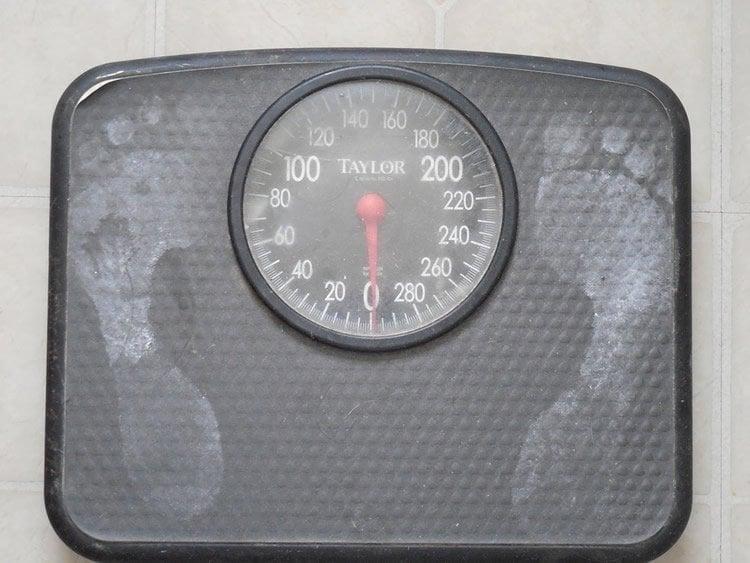 Image shows bathroom scales.