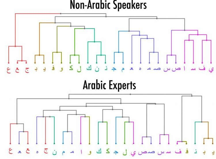 Image shows the arabic alphabet.