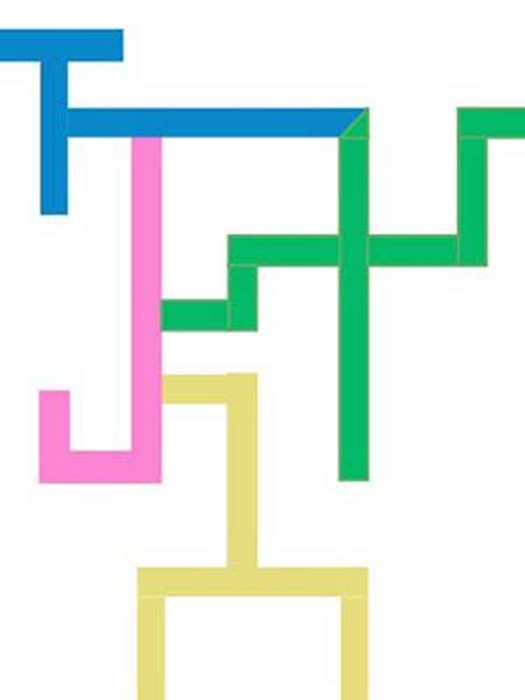 Image shows a multi coloed maze.
