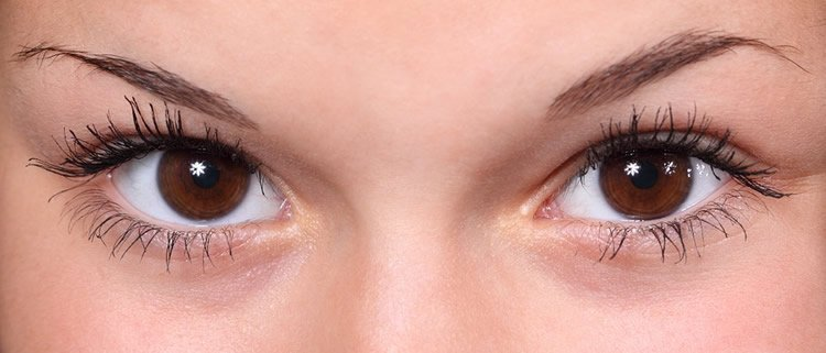 Image of a woman's eyes.