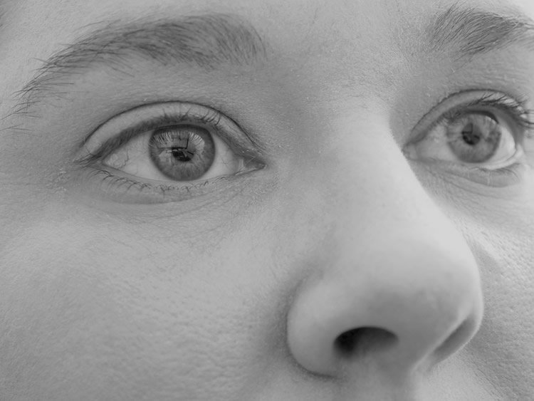 Image shows a person's nose.