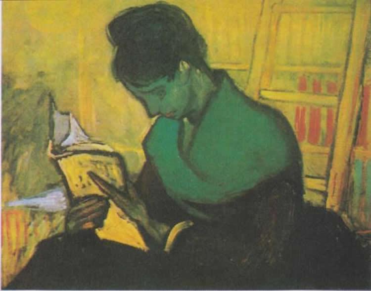 Woman Reading a Novel, by Vincent Van Gogh, 1888.