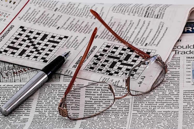 Image shows crossword puzzle.