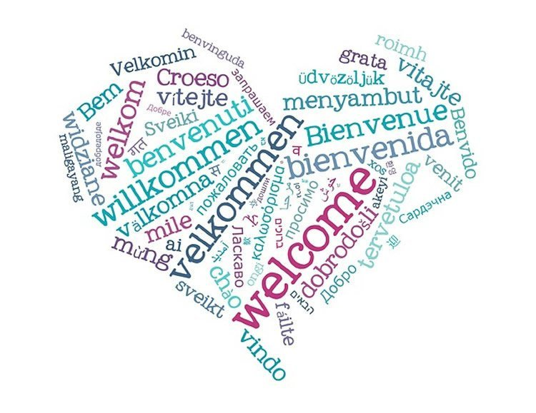 Image shows the word Hello written in different languages.
