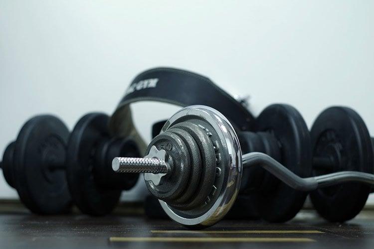 Image shows gym equipment.