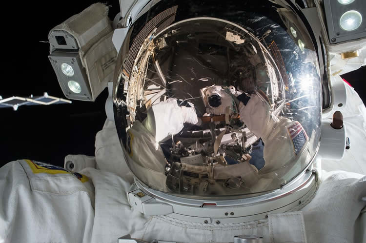 Image shows an astronaut.