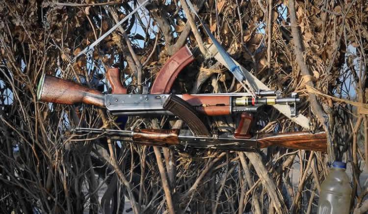 Image shows guns.