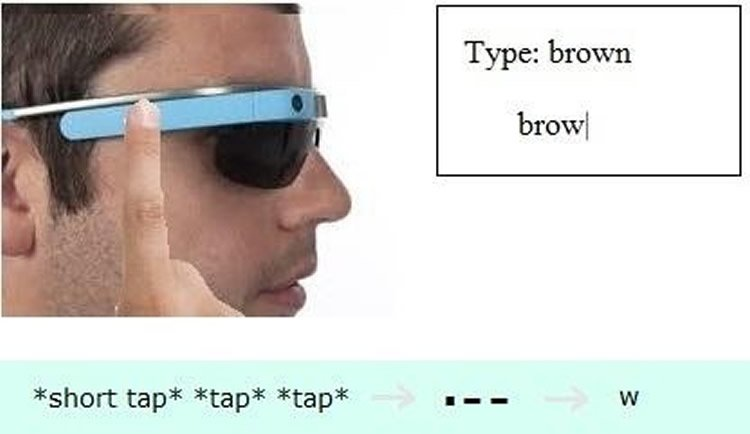 Image shows a person in google glasses.