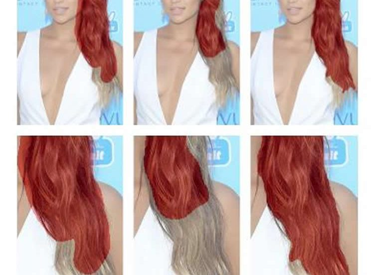 Image shows a woman with long, red hair.