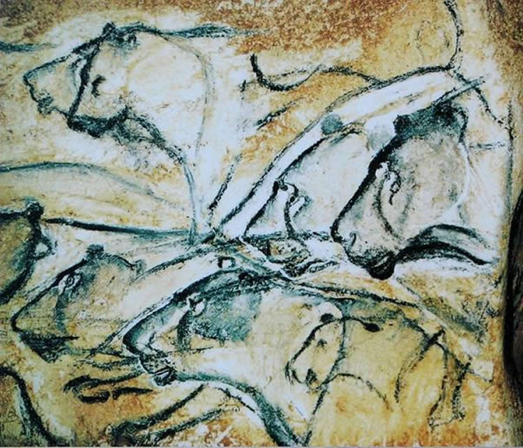 Image shows cave art.