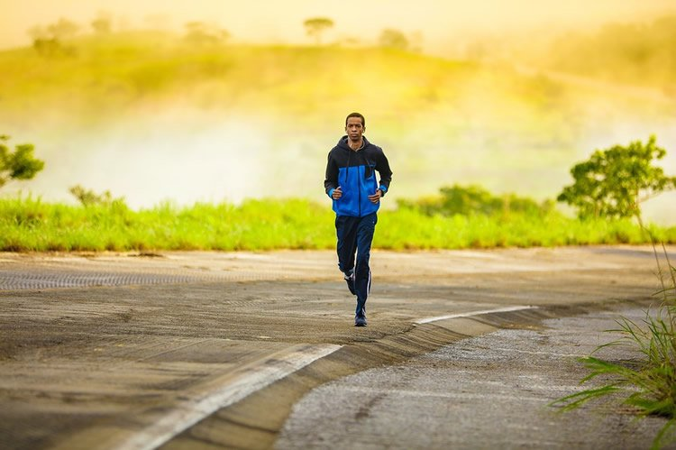 Image shows a man running.