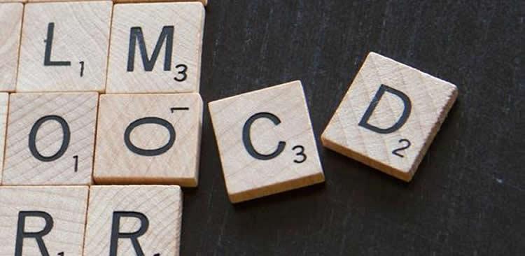 scrabble letters spelling out OCD.