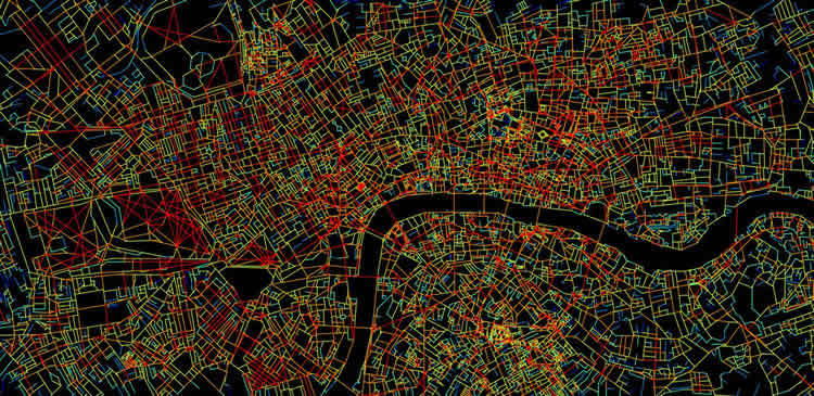 Image shows a map of London.